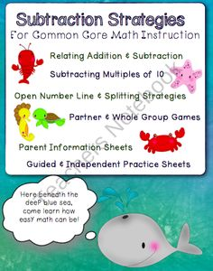 Subtraction Strategies for Common Core Math Instruction product from The-Teachers-Chair on TeachersNotebook.com