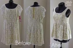 Lace Dress to Shirt Refashion Tutorial