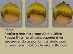 Como pintar cabelinhos de bonecos corretamente