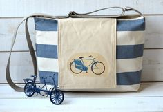 Waterresistant NAUTICAL French TOTE Diaper by ikabags on Etsy, $67.00