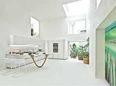 Astonishing Inspiring Modern White Kitchen 2013