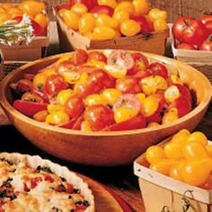 Herbed Tomato Salad Recipe- Recipes  My children love to pick the garden-fresh tomatoes and herbs from our backyard garden for this salad. They are so proud of themselves when they put this tasty salad together and serve it to their family.—Judith McGhan, Perry Hall, Maryland