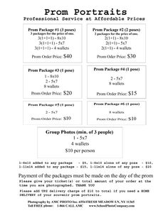 School Picture Day Order Form Template  School And Seniors