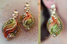 Shibori silk EARRINGS design by Serena Di Mercione