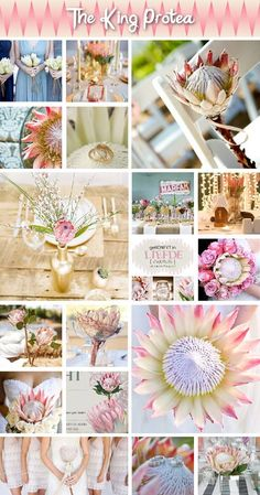 The King Protea is our national flower - have a look at this lovely inspiration board. Via SA Weddings.