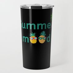Summer Mood Pineapple Cool Travel Mug Pineapple Palm Tree, Cool Travel Mugs, Interior And Exterior, Interior Design, Inspirational Gifts, Travel Style, Home Deco, Palm Trees, Home And Living