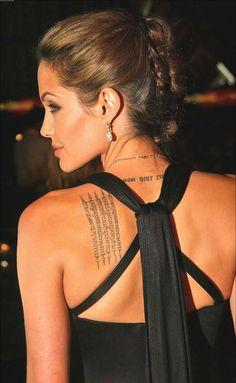Angelina Jolie #ink #tattoo