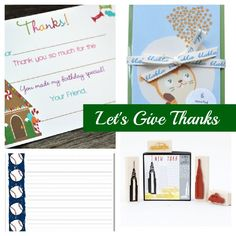 Favorite thank you notes for kids.