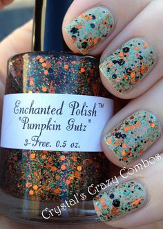 Crystal's Crazy Combos: Enchanted Polish - Pumpkin Gutz