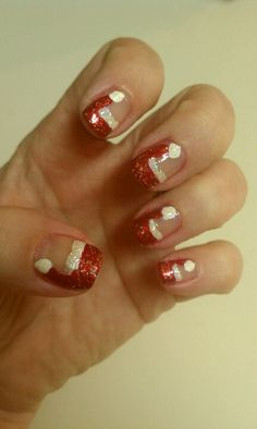 My Christmas Santa nails