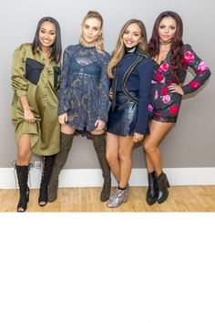 Little Mix Pose Backstage On The 'Lorraine' TV Show In London, 2015