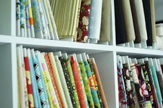 organize fabric collection with foam board bolts
