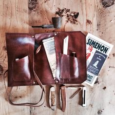 Leather Pipe Pouch (The Standard Rusticated) by SorringowlandSons