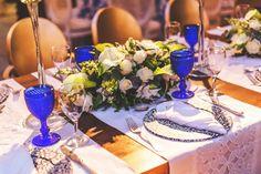 wedding decor / portuguese blue tile details
