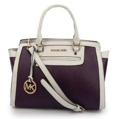 Michael Kors Selma Leather Satchel Purple