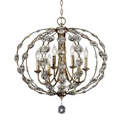 Feiss F2740/6BUS Leila 6-Light Crystal Chandelier at ATG Stores