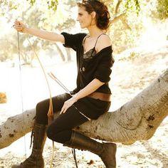 Stana Katic real life archer