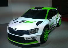 The New Fabia R 5 concept car features a lot of high-tech. In keeping with FIA regulations, the new racing car is powered by a 1.6-litre turbo engine.