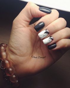 127 Best Black And White Nails Images On Pinterest In 2018