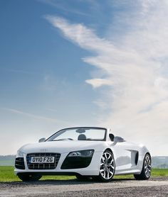 Audi R8 Spyder convertible yes, white no