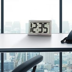 AcuRite Digital Clock with Intelli-Time Technology has bold numbers that are easy-to-read from anywhere in the room. Perfect for offices, classrooms, or around the house.