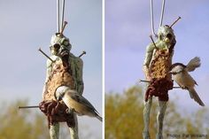 Zombie Bird Feeder! http://www.neatoshop.com/product/Zombie-Bird-Feeder