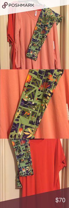 🌼 Lowered price for Lularoe Orange Bundle! Awesome bundle with two tops and pair of TC leggings that match! 3X Lularoe Bright Orange Irma and XL Lularoe Light Orange Lynnae.  Special bundle price of $70 LuLaRoe Tops Tunics