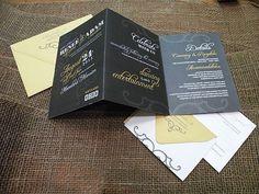 Love my mustard yellow and gray wedding invitations  ;)