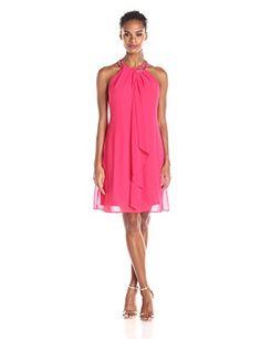 S.L. Fashions Women's Jewel Chocker Sheath Dress, Cerise. http://www.amazon.com/gp/product/B019YC2EO4/ref=as_li_tl?ie=UTF8&camp=1789&creative=9325&creativeASIN=B019YC2EO4&linkCode=as2&tag=pinshortdressparty1-20&linkId=RGKBZCBXQB3S4BTK