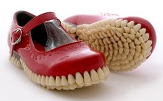 Red Shoes with Teeth