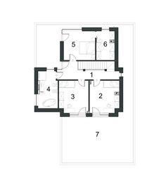 DOM.PL™ - Projekt domu PPE KLASYCZNY D33 CE - DOM EG1-26 - gotowy koszt budowy Floor Plans, Dom, Floor Plan Drawing, House Floor Plans