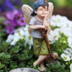 Fairy Garden Itty Bitty Fairy Pixie Bobby Statue Miniature