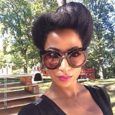"""Love this Chic Updo by @africamiranda """"just because"""" #Hair2mesmerize #naturalhair #healthyhair #naturalhairjourney #naturalhairstyles #blackhairstyles #transitioning #protectivestyle"""