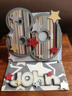 Mens 80th Birthday Card Using Papers From My Minds Eye Complete Boy 12 X Pad