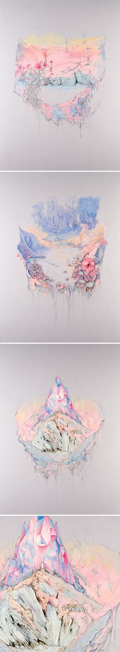 """Paradise"" - a lovely, magical, pastel-hued series by British artist/illustrator Katherine Tromans"