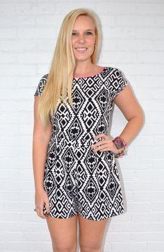 LOVE Crazy Maze Romper! Shop online at www.altamodaathens.com or call (706) 850-3301
