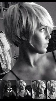 Growing out my pixie - Short Pixie Haircuts Date Hairstyles, Great Hairstyles, Long Pixie Hairstyles, Pixie Haircuts, Short Hair Cuts, Short Hair Styles, Pixie Styles, Grown Out Pixie, Pixie Cut