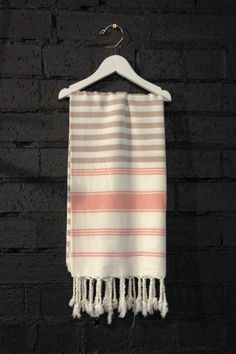 Carousel The Stripe Turkish Towels in Blush and Pink