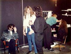 WHITESNAKE early 1984 Jon Lord, Lord John, David Coverdale, Jimmy Page, Deep Purple, Hard Rock, Rock Bands, Hero, Singer