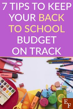 7 Tips to Keep Your Back to School Budget on Track | Everything Finance Tax Free Weekend, School Items, Finance Blog, Create A Budget, Your Back, Managing Your Money, School Shopping, New Teachers, Get To Know Me