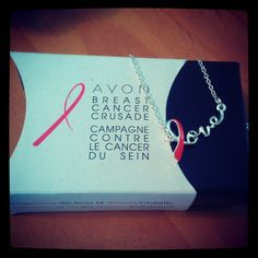 Avon's New 2013 Pink Ribbon Breast Cancer Love Necklace. Just $5 and 100% of the net profits will be donated to the Avon Foundation for Women Breast Cancer Crusade. Shop through my store www.youravon.com/kpelosi and get free shipping anywhere in the US with code REPFLYER.