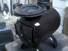 gas bottle with brake disc hot plate