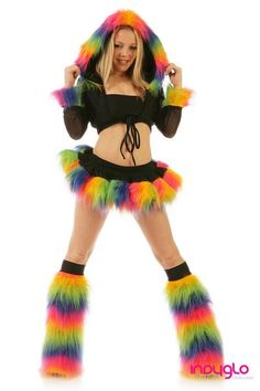 I found 'Rainbow Black Pogo Rave Outfit' on Wish, check it out!  uber cute