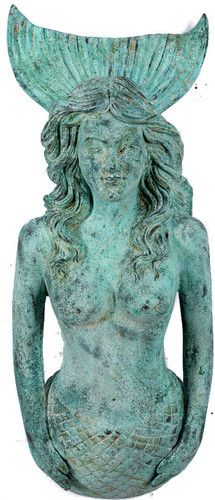 Life Size Figure Head Mermaid Shipwreck Finish Nautical Tropical Home Decor NEW