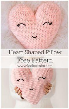 Heart Shaped Pillow Crochet Pattern