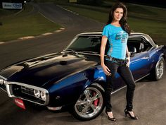 This is Adrienne Janic or (Адриана Јанић) and this is her 1968 Pontiac Firebird. She was (born July and her nick name is sometimes credited simply as AJ.She is an American actress and television host. She is of Serbian and Mexican descent Firebird Car, Pontiac Firebird Trans Am, Pontiac Gto, Auto Girls, Car Girls, Girl Car, Us Cars, American Muscle Cars, Up Girl