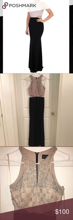 BRAND NEW Xscape Gown Never worn beaded illusion Xscape gown. Size 8. Comfortable fabric, zipper back, mesh detailing at neck and sides. This dress has never been worn, it is in PERFECT condition! Xscape Dresses Prom