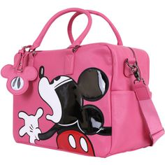 Disney Vintage Mickey Mouse Oversized Casual Travel Tote Luggage... (105 AUD) ❤ liked on Polyvore featuring bags and luggage