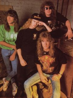 Please Click Pictures For A Better Resolution Metallica, Hard Rock, Nick Menza, Vic Rattlehead, David Ellefson, Grunge, Dave Mustaine, Famous Musicians, Band Photos