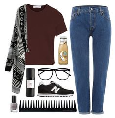 """""""Untitled #44"""" by justekam ❤ liked on Polyvore featuring Alexander Wang, Levi's, Eight & Bob, H&M, New Balance, GHD and Bobbi Brown Cosmetics"""